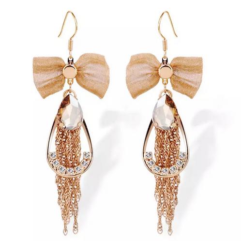 Boucles d'oreilles strass cristaux Swarovski éléments plaqué Or