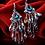 Thumbnail: Boucles d'oreille Colorful strass cristal en plaqué Or blanc