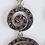 Thumbnail: Boucles d'oreilles pendantes Vintage en Argent Massif  925 Swarovski éléments