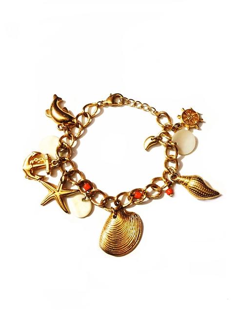 Bracelet en bronze plaqué Or Summer style