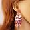 Thumbnail: Boucles d'oreilles Colorful  pendantes strass en céramique acétate et plastique