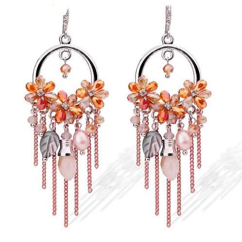 Boucles d'oreilles Colorful strass Swarovski éléments Cristal Autrichien