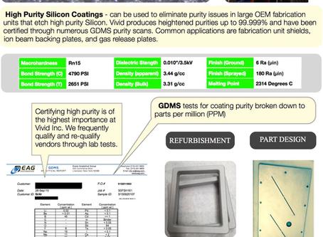Silicon Plasma Spray - Servicing Vital Parts for Ion Implants