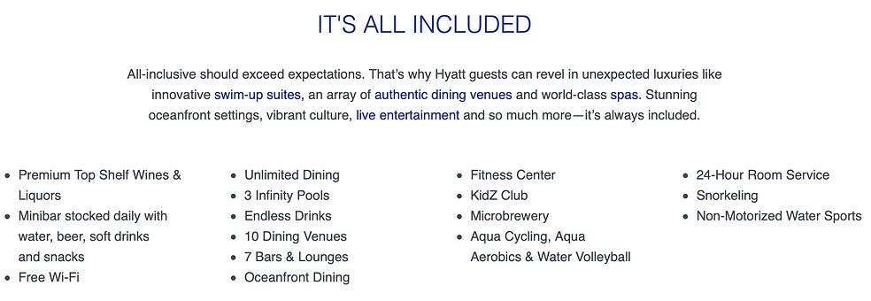 Hyatt Ziva Info