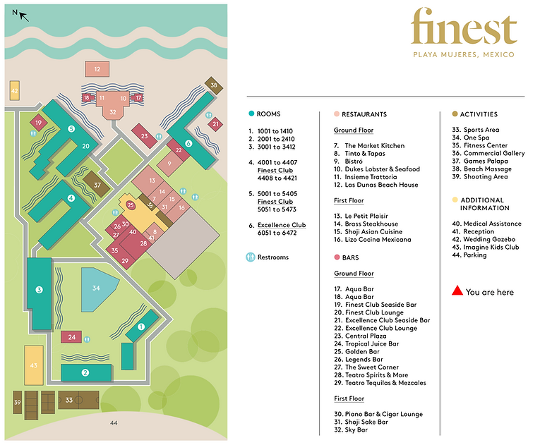 Finest Playa Mujeres - map
