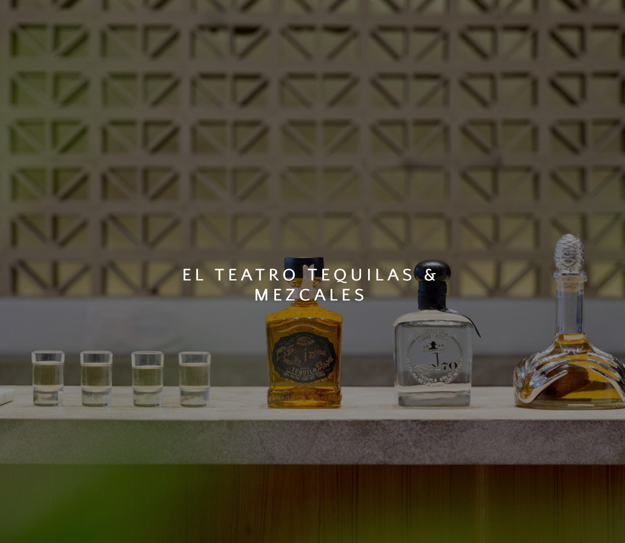 EL TEATRO TEQUILAS & MEZCALES