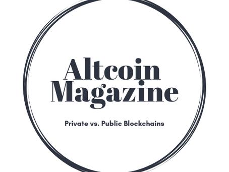 Private vs. Public Blockchains