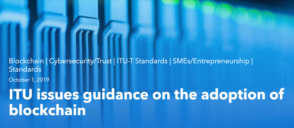 ITU News quotes Skylar Hurwitz in announcement of guidance on adoption of blockchain technology