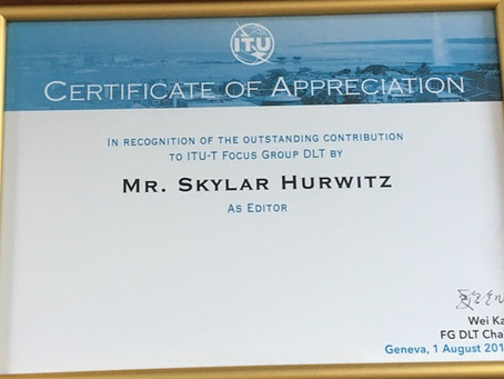 Skylar Hurwitz Recognized by ITU