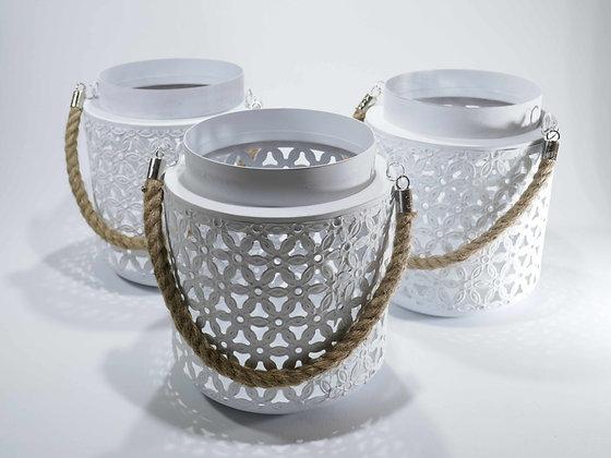 Lanternen Weiß + Glas