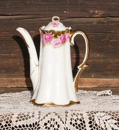 Tee-/Kaffekannen, Zuckerdose, Milchkännchen, Tortenteller