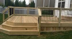 Wood Deck w/ Metal Spindles