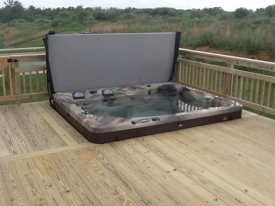 Enclosed Hot Tub