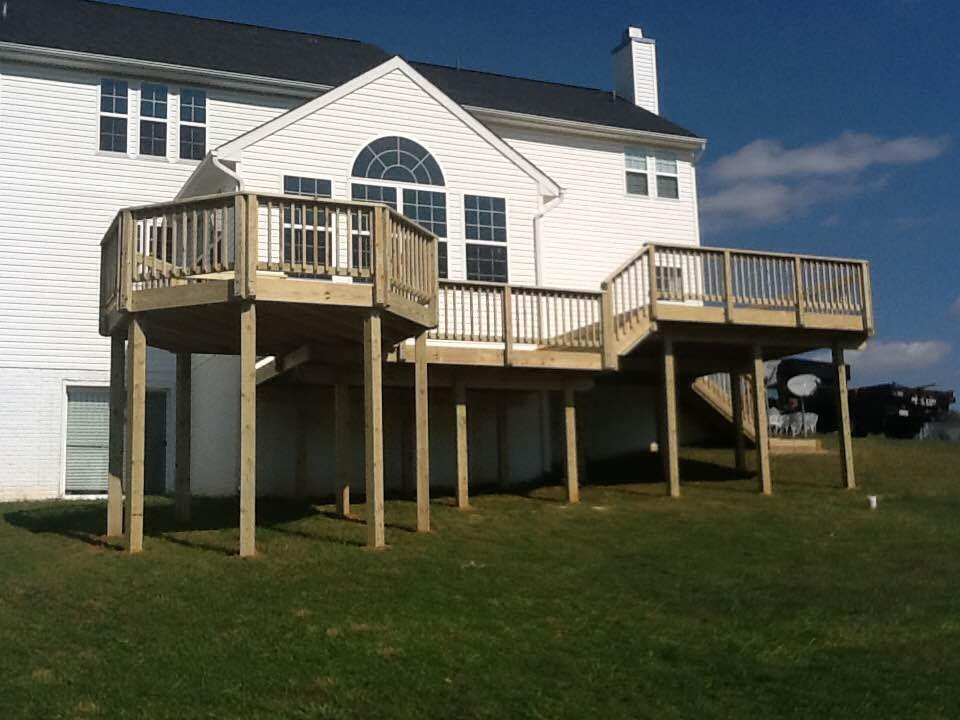 Multi-Level Wood Deck