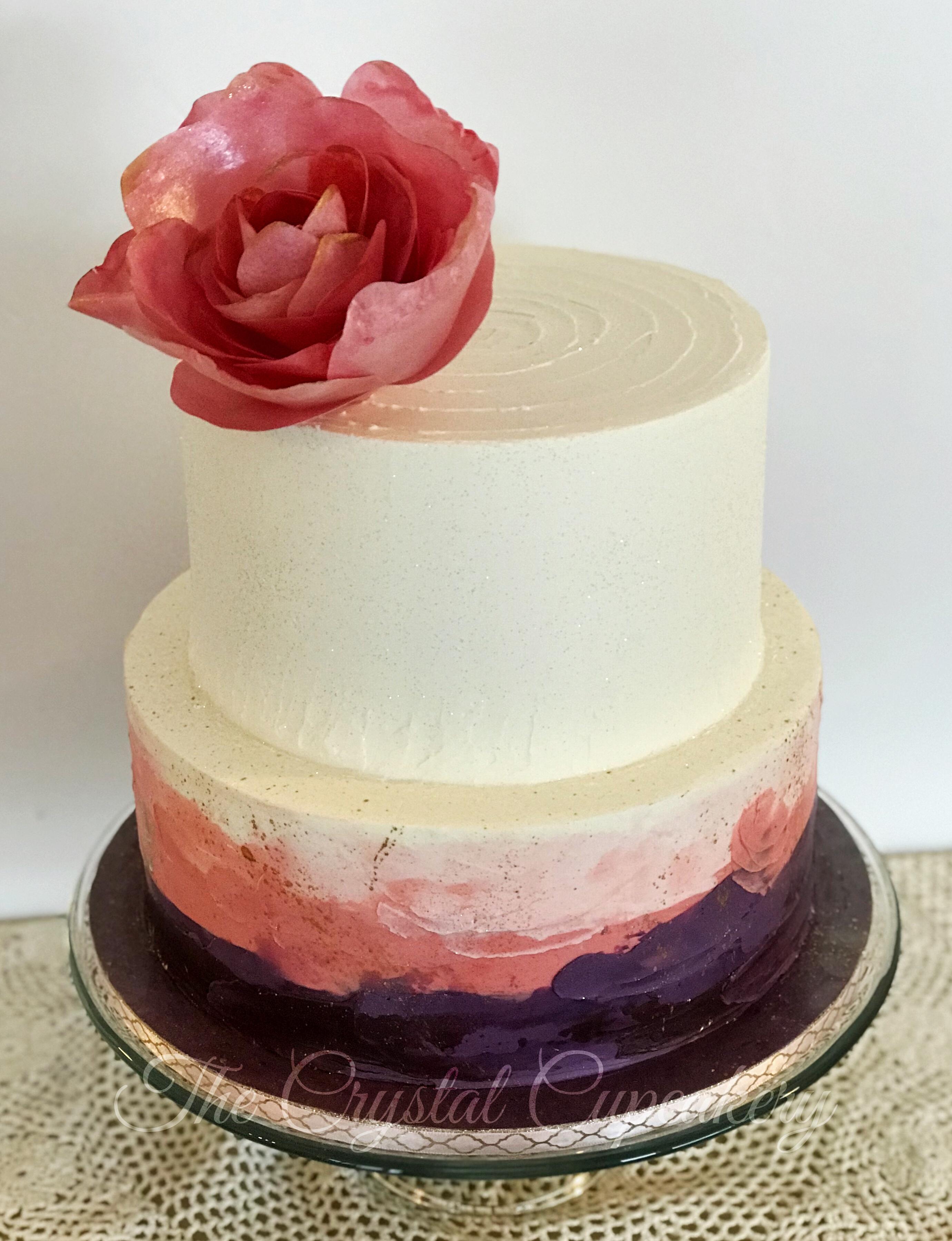 Modern Paint Splatter Cake