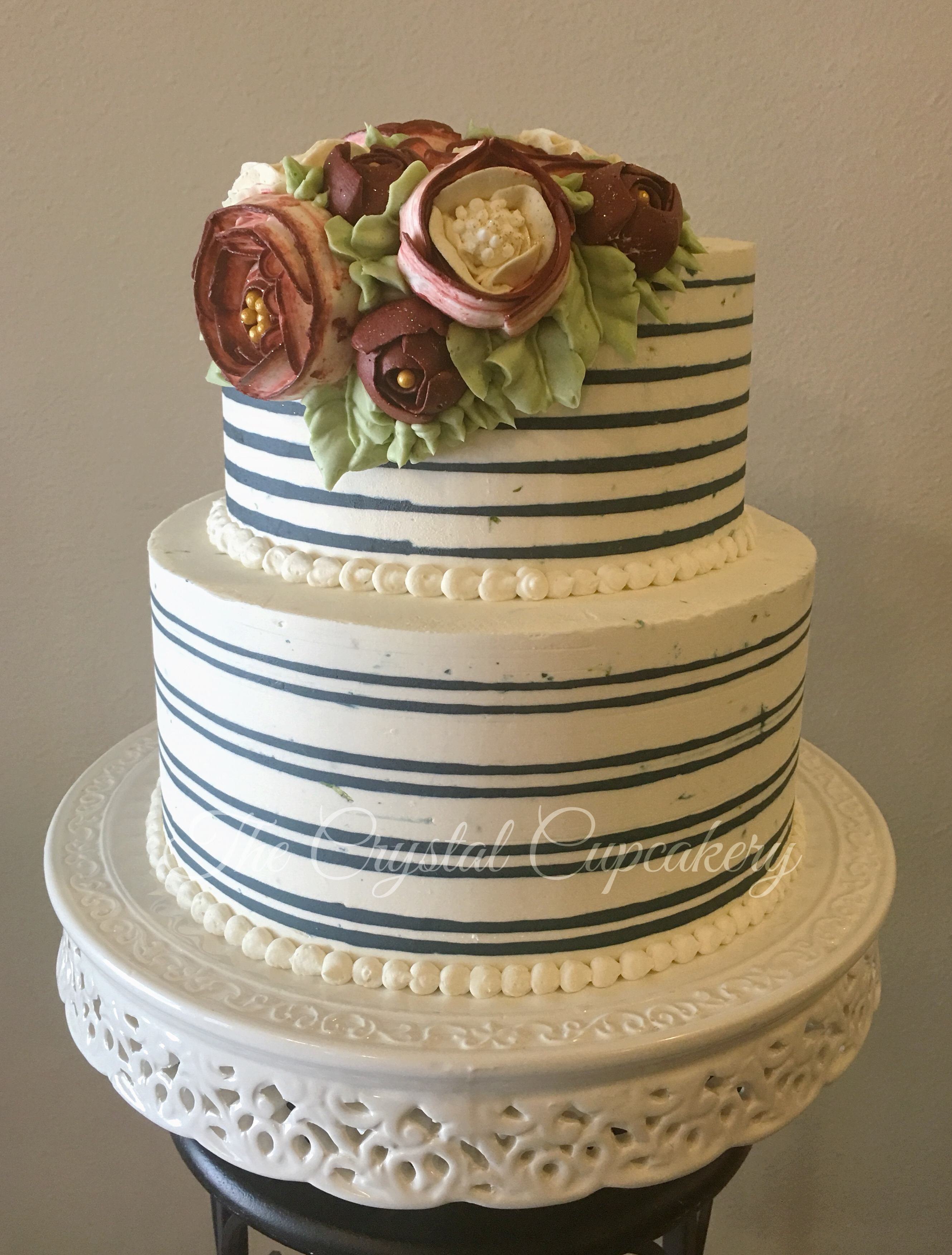 Buttercream Stripe Graduation