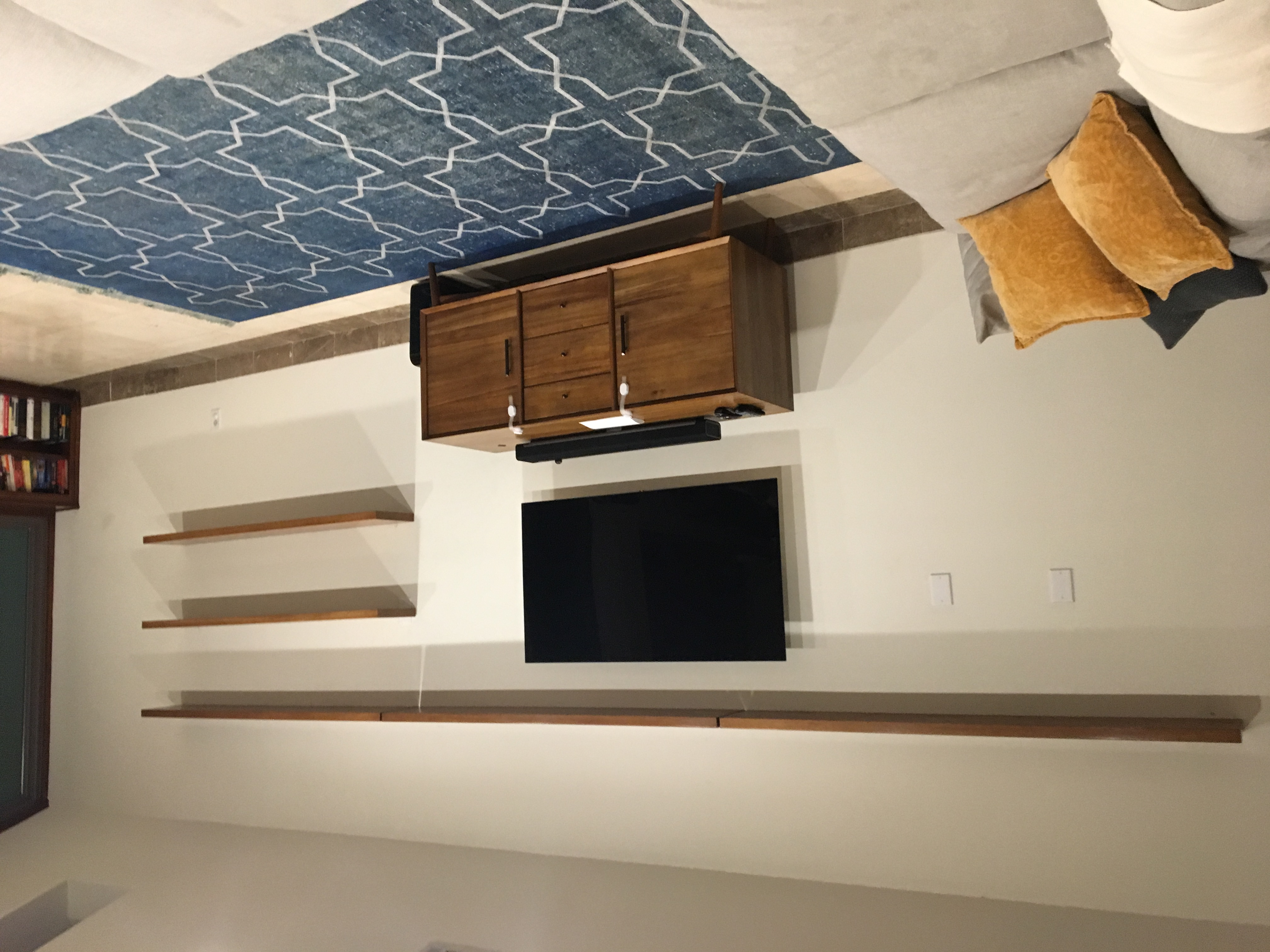Solid White Oak Floating Shelves