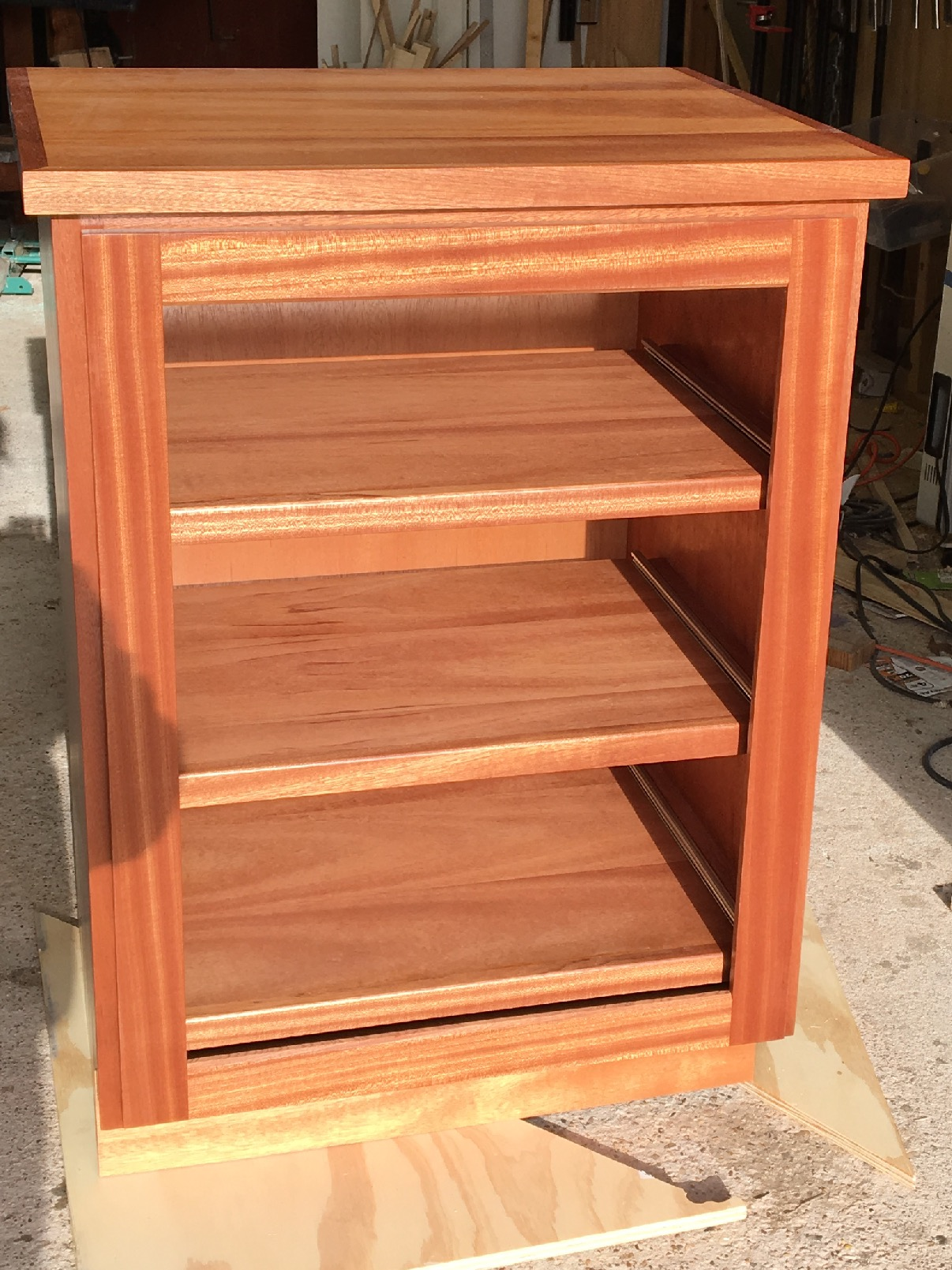 Mahogany media cabinet