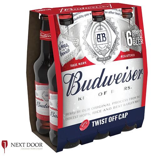 Budweiser 6 X 300ml Bottle Pack