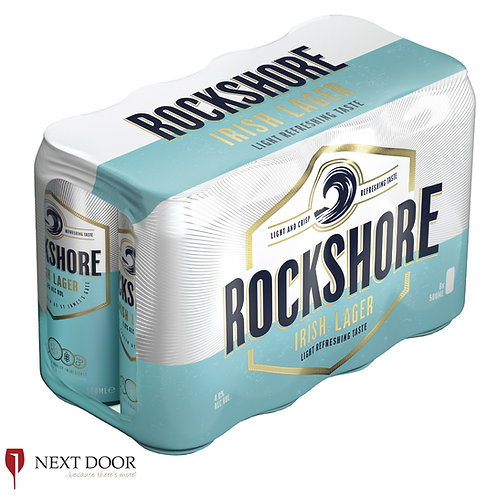 Rockshore Lager 8 X 500ml Can Pack