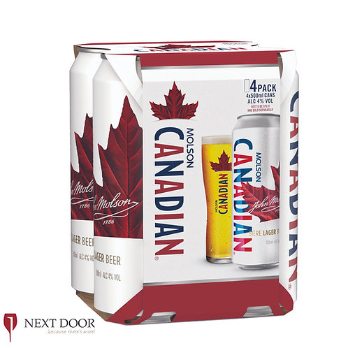 Canadian 4 X 500ml Can Pack