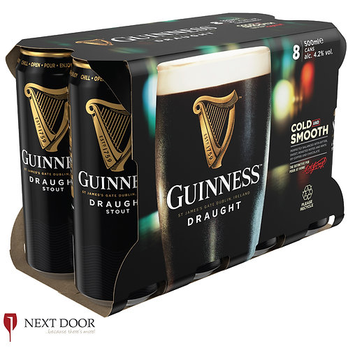 Guinness 8 X 500ml Can Pack