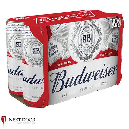 Budweiser 8 X 500ml Can Pack