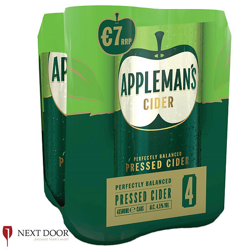 Appleman's Cider 4 X 500ml Can Pack