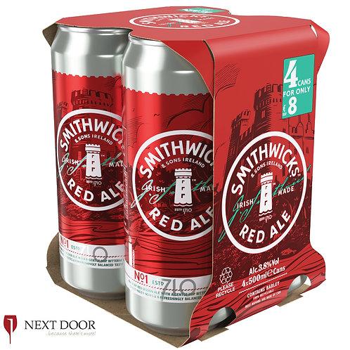 Smithwicks 4 X 500ml Can Pack
