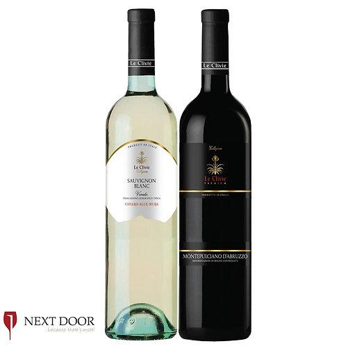 Le Clivie Sauvignon Blanc & Montepulciano d'Abruzzo 750ml