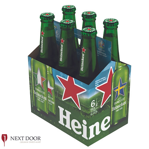 Heineken Euros 6 X 330ml Bottle Pack