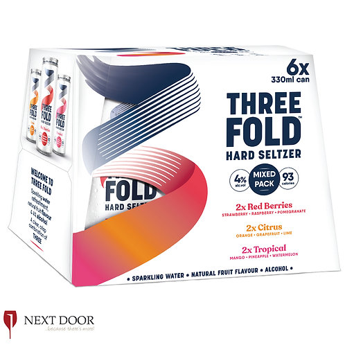 Three Fold Hard Seltzer Mixed  6 X 330ml Can Pack