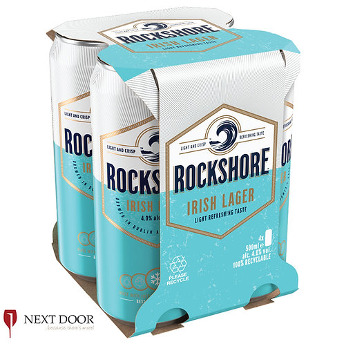 Rockshore Lager 4 X 500ml Can Pack