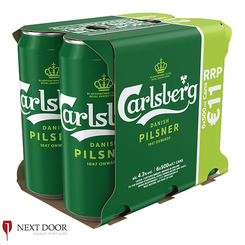 Carlsberg 6 X 500ml Can Pack