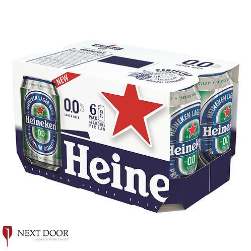 Heineken 0.0% 6 X 330ml Can Pack