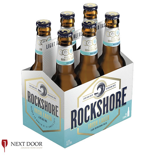 Rockshore Lager 6 X 330ml Bottle Pack