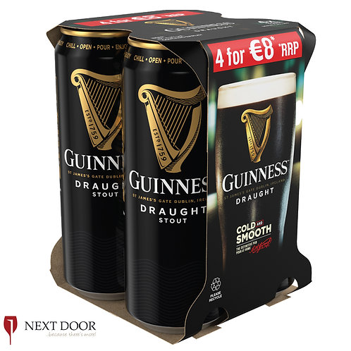 Guinness 4 X 500ml Can Pack