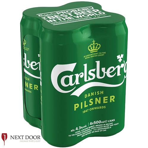 Carlsberg 4 X 500ml Can Pack