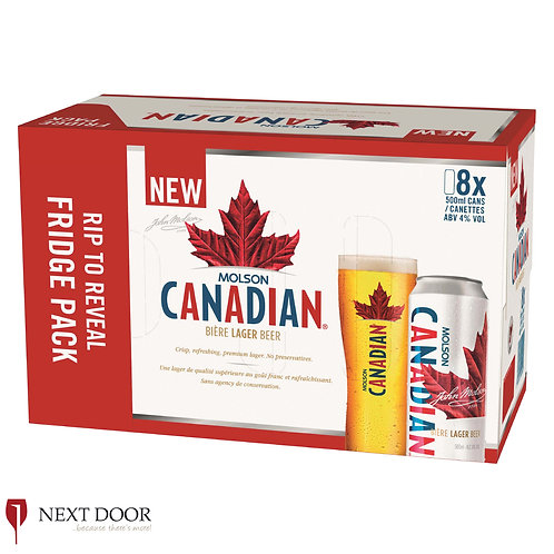 Canadian 8 X 500ml Can Pack