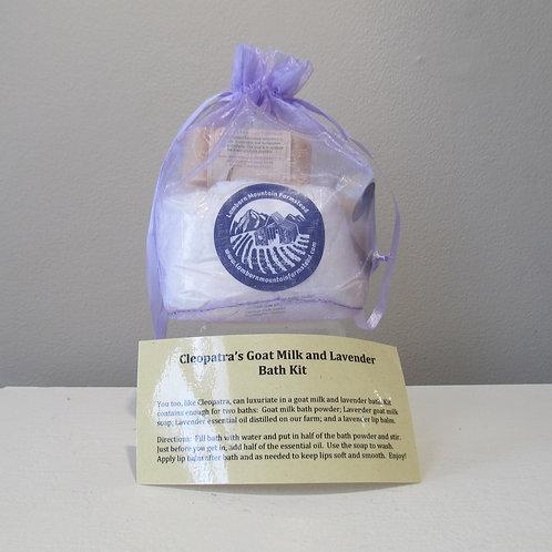 Cleopatra's Goat Milk & Lavender Bath Kit