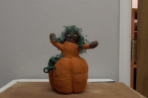 Felted Pumpkin Person