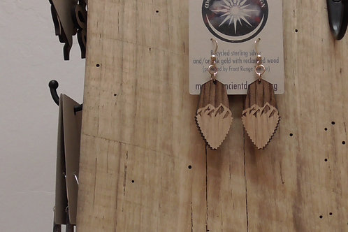 Wooden Eagle Feather Earrings