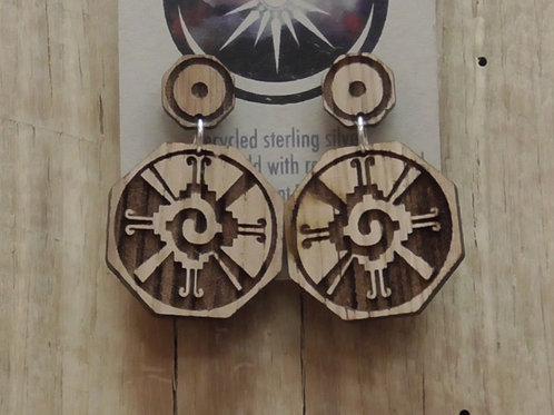 Southwestern Wooden Earrings