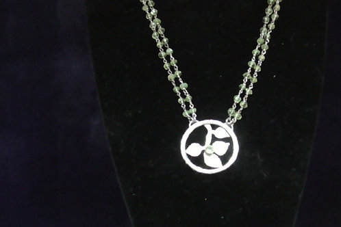 necklace with peridot