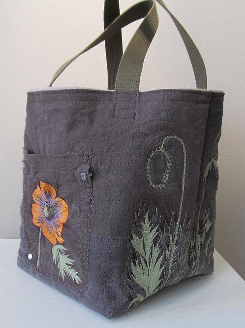 Orange Flower Carhartt Handbag