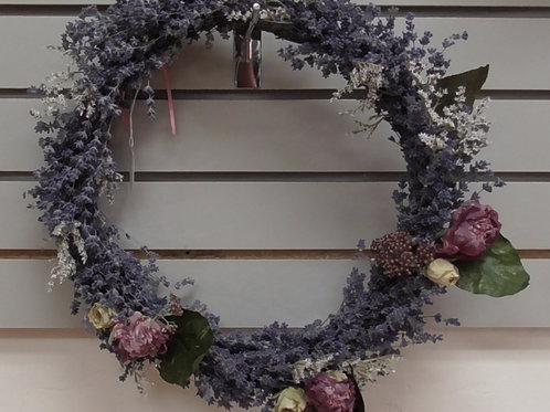 Wreath roses & lavender