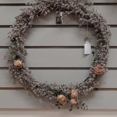 Wreath roses &lavender