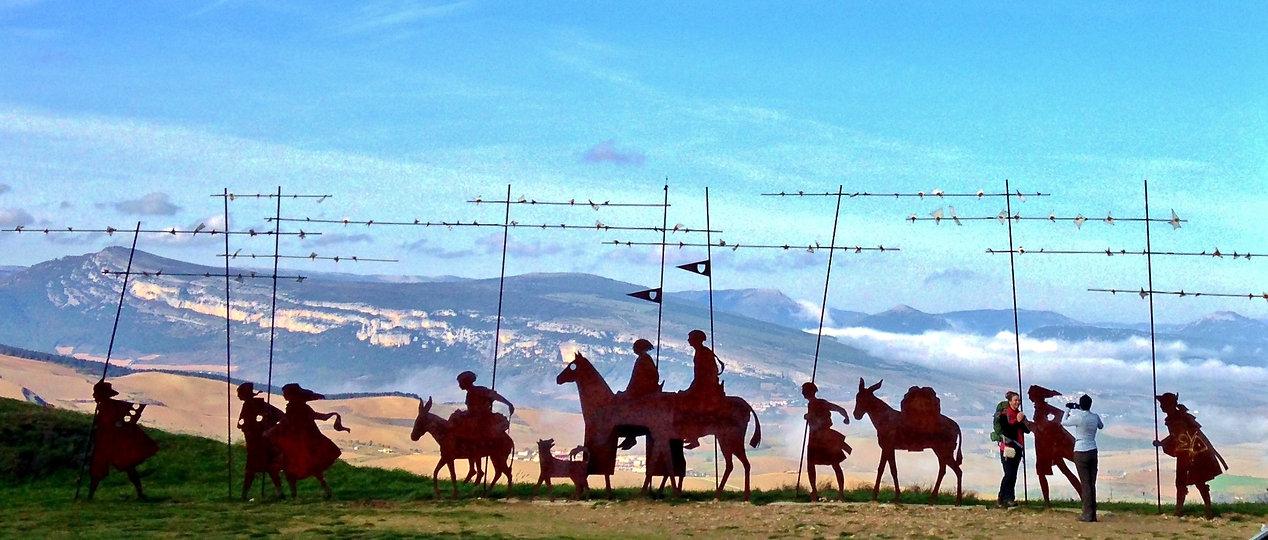 Alt de Perdon, El Camino de Santiago