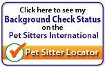 Pet Sitter Locator Passed Background Check Logo