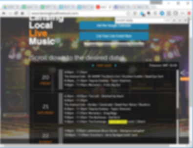 Example of in-site PC Browser search to help find live music in lansing michigan